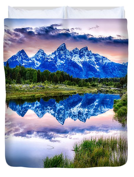 Blue Teton Duvet Cover