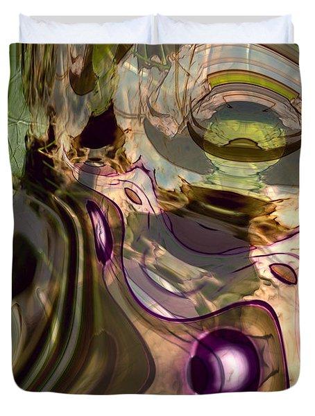 Duvet Cover featuring the digital art Sci-fi Fury by Richard Thomas