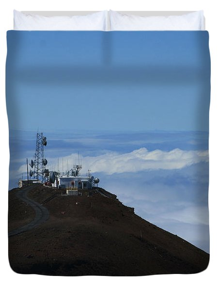 Science City Haleakala Duvet Cover by Sharon Mau