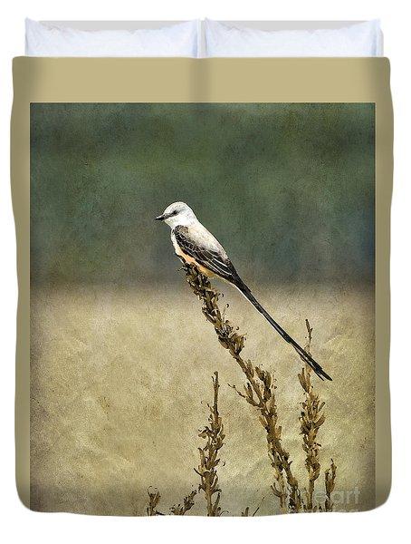 Scissortailed-flycatcher Duvet Cover by Betty LaRue