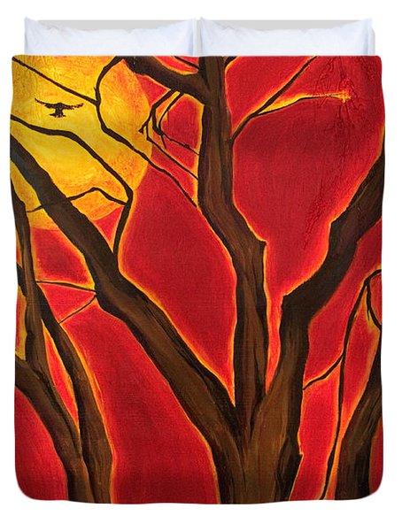 Scorpio Sun By Jaime Haney Duvet Cover