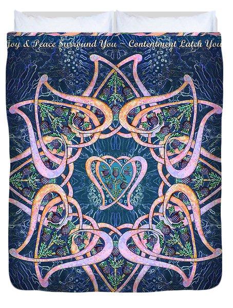 Scottish Blessing Celtic Hearts Duvet Duvet Cover