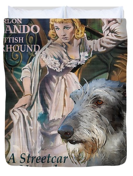 Scottish Deerhound Art - A Streetcar Named Desire Movie Poster Duvet Cover by Sandra Sij