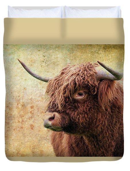 Scottish Highland Steer Duvet Cover
