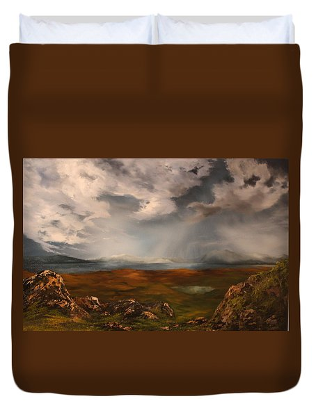 Scottish Loch Duvet Cover