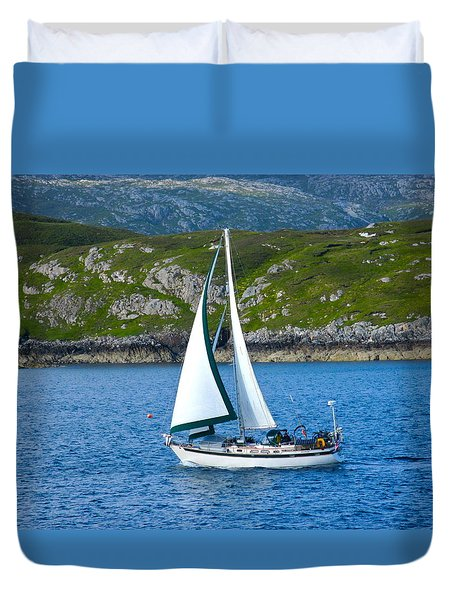 Scottish Sails Duvet Cover
