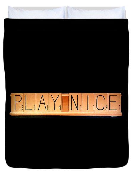 Scrabble Duvet Cover