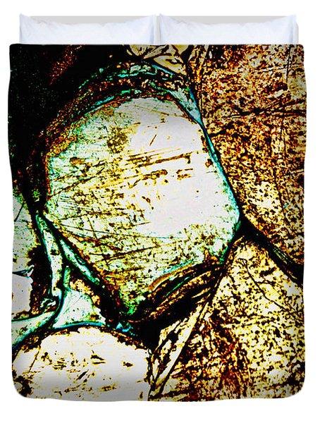 Scratch Duvet Cover by Leanna Lomanski