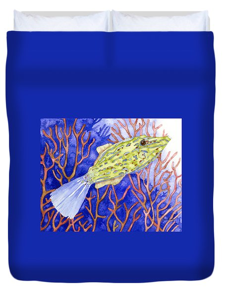 Scrawled Filefish Duvet Cover