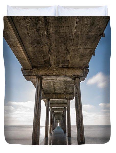 Scripps Pier Long Exposure Duvet Cover
