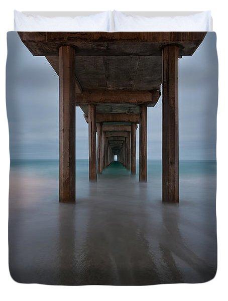 Scripps Pier Soft Blue Duvet Cover