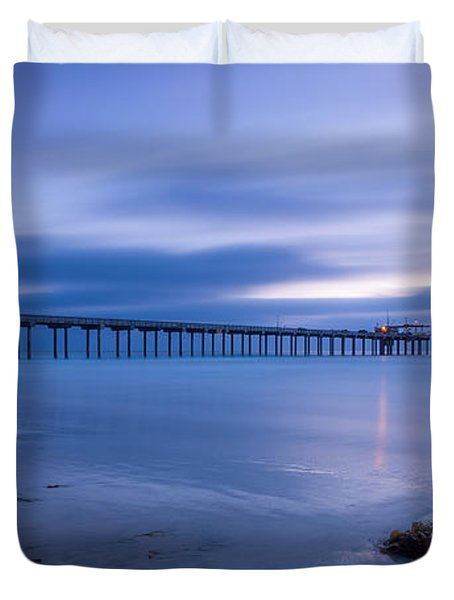 Scripps Pier Twilight - Color Duvet Cover