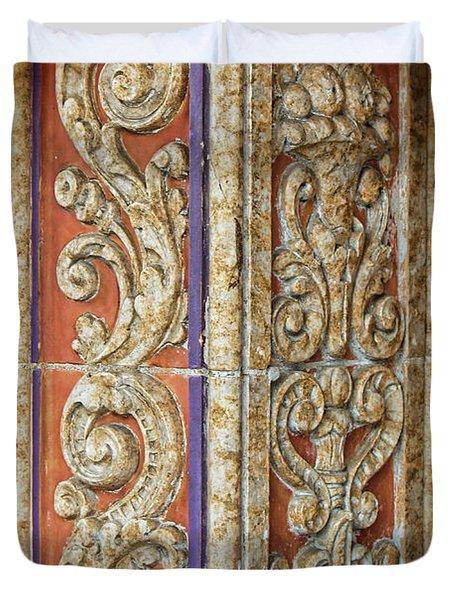 Scrolled Column Duvet Cover