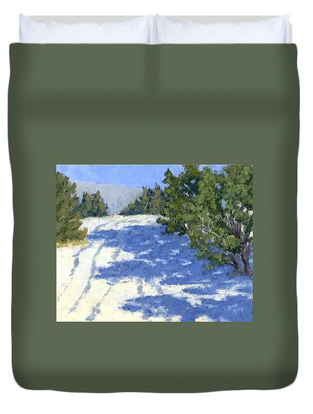 Scrub Oak Shadows Duvet Cover