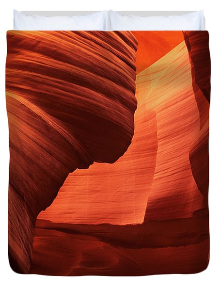 Duvet Cover featuring the photograph Sculpted Sandstone Upper Antelope Slot Canyon Arizona by Dave Welling