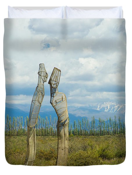 Sculpture In The Andes Duvet Cover