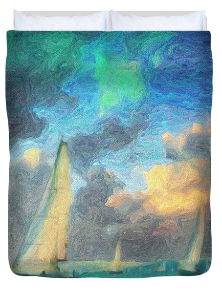 Scylla Duvet Cover by Taylan Apukovska