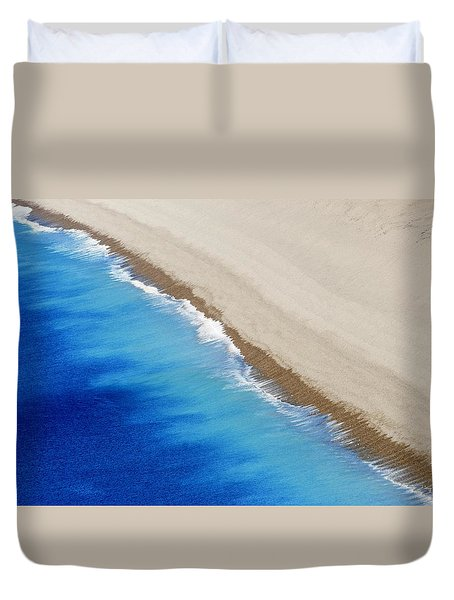 Duvet Cover featuring the photograph Sea And Sand by Wendy Wilton