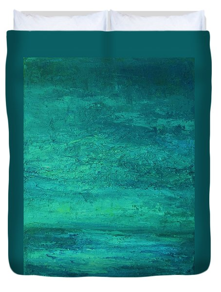Duvet Cover featuring the painting Sea And Sky by Mary Wolf
