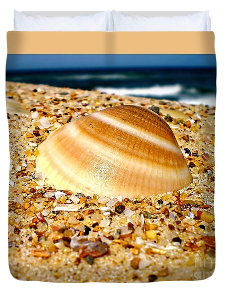 Sea Beyond The Shell Duvet Cover by Kaye Menner