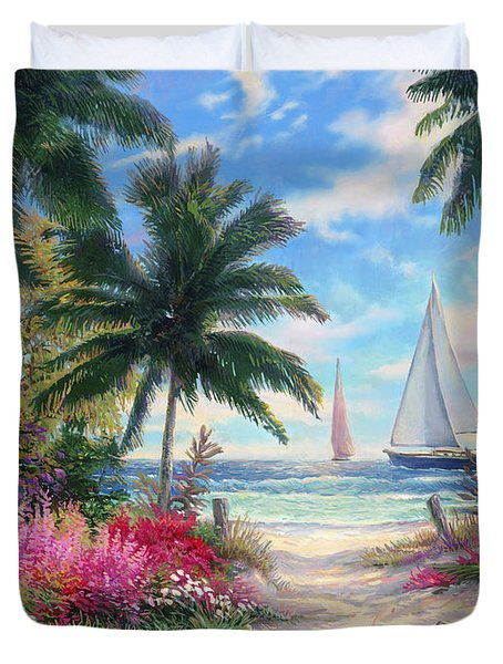 Sea Breeze Trail Duvet Cover by Chuck Pinson