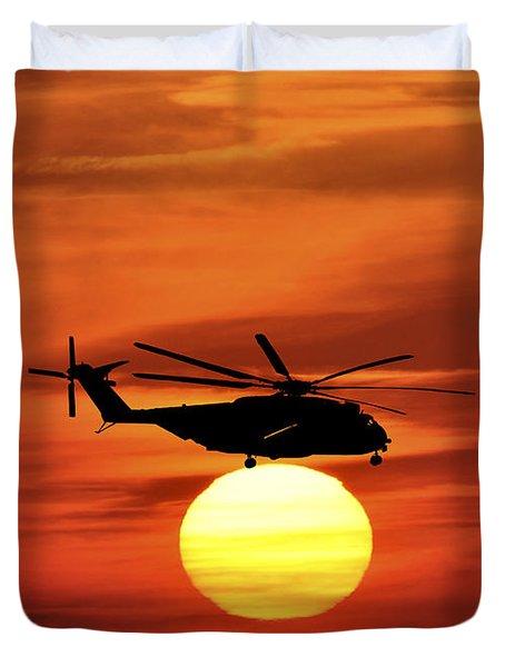 Sea Dragon Sunset Duvet Cover