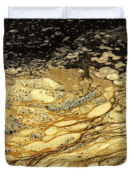 Sea Foam On The Beach 2 Duvet Cover