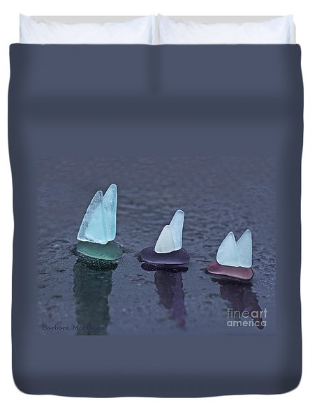 Sea Glass Flotilla Duvet Cover by Barbara McMahon