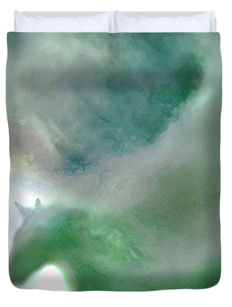 Sea Glass Storm Duvet Cover