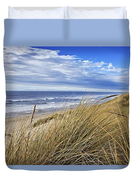 Sea Grass And Sand Dunes Duvet Cover
