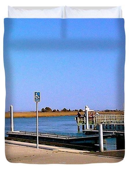 Sea Gulls Watching Over The Wetlands Duvet Cover by Amazing Photographs AKA Christian Wilson