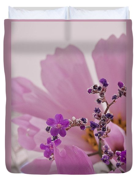 Duvet Cover featuring the photograph Sea Lavender Macro  by Sandra Foster