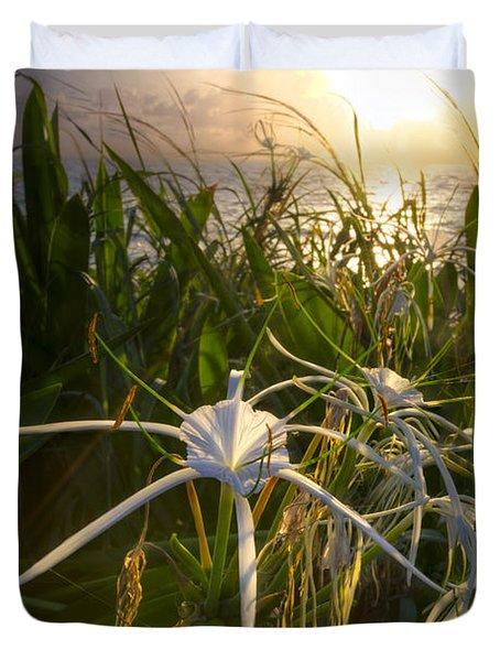 Sea Lily Duvet Cover by Debra and Dave Vanderlaan