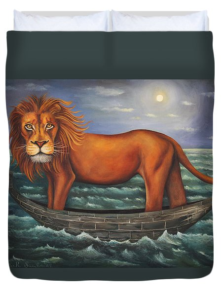 Sea Lion Softer Image Duvet Cover by Leah Saulnier The Painting Maniac