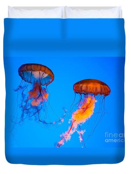 Sea Nettles Duvet Cover