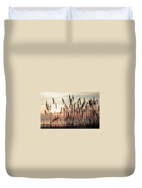 Duvet Cover featuring the photograph Spectacular Sea Oats At Sunrise by Belinda Lee