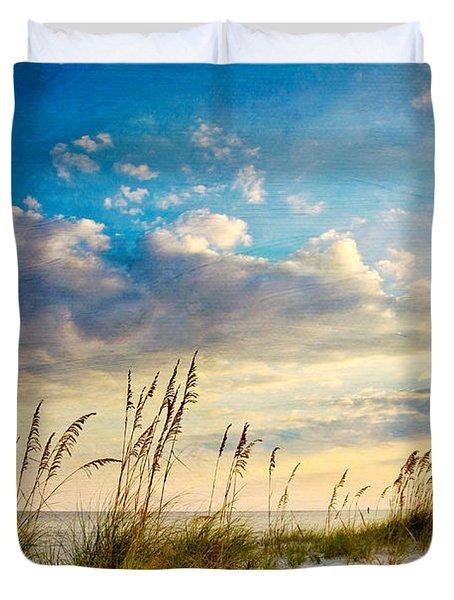 Sea Oats Sunset Duvet Cover