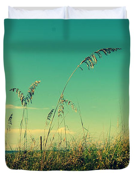 Sea Oats Under The Morning Sun In Sarasota Duvet Cover