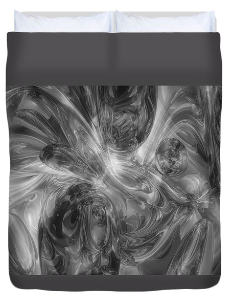 Sea Of Black-abstract Art Duvet Cover