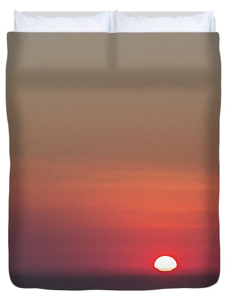 Sea Of Clouds Sunset Duvet Cover