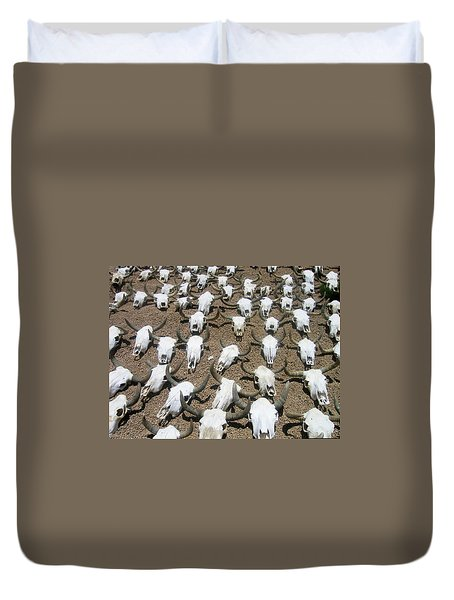Sea Of  Cow Skulls Cave Creek Arizona 2004 Duvet Cover
