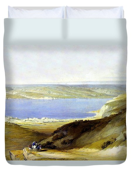 Sea Of Galilee Duvet Cover by Munir Alawi