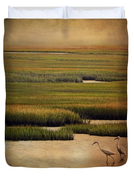 Sea Of Grass Duvet Cover by Lianne Schneider