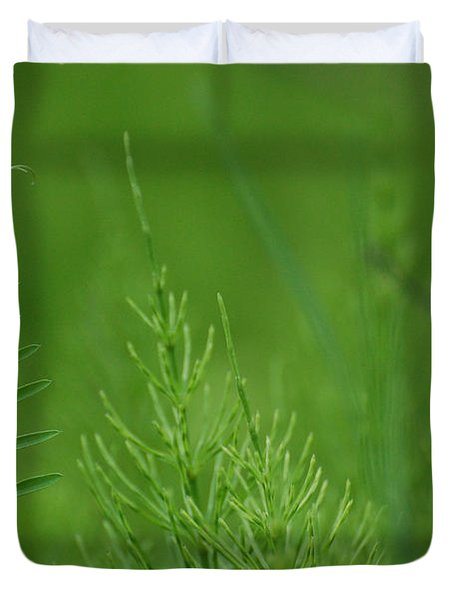 Duvet Cover featuring the photograph Sea Of Green by Bianca Nadeau