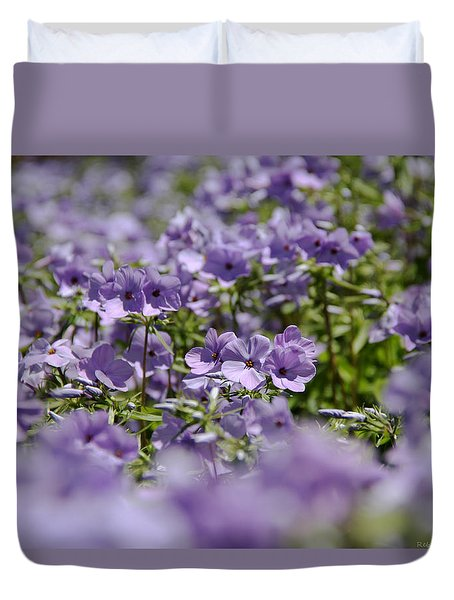 Sea Of Purple Duvet Cover