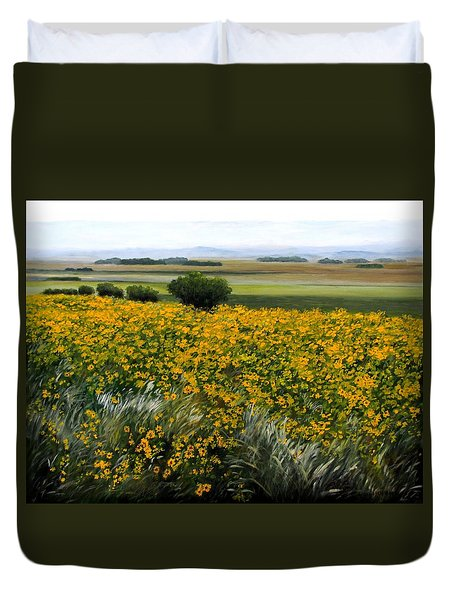Sea Of Sunflowers Duvet Cover
