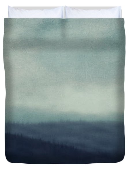 Sea Of Trees And Hills Duvet Cover