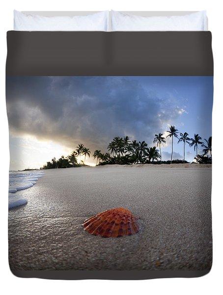 Sea Shell Sunrise Duvet Cover