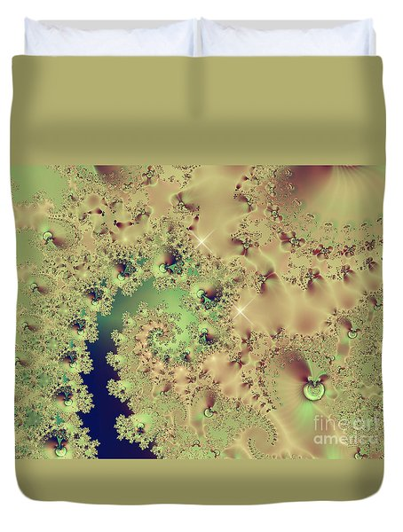 Sea Shells And Cockle Tales Abstract Digital Art Prints Duvet Cover