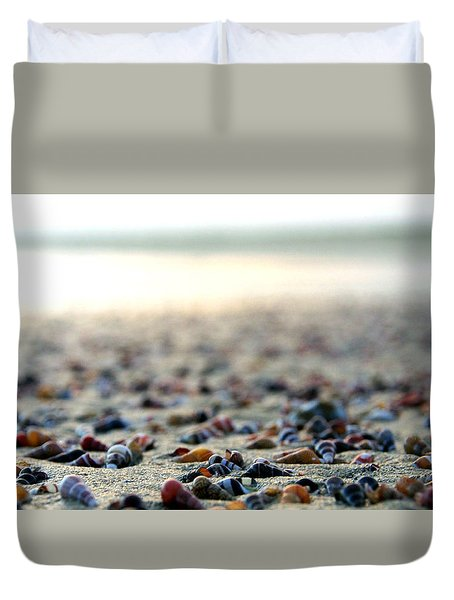 Sea Shells By The Sea Shore Duvet Cover by Kaleidoscopik Photography